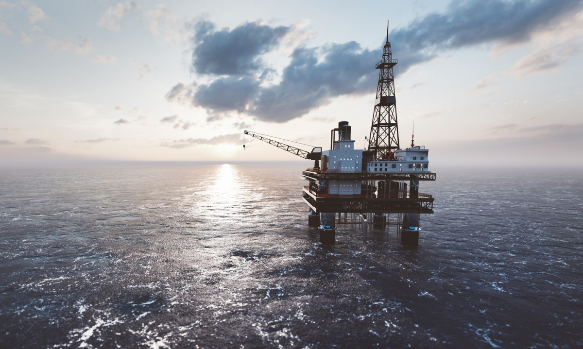 Monel 400 offshore drilling rig on the sea oil platform PQGB37H